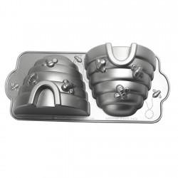 Molde Doble Colmena 10 Tazas Aluminio Fundido Nordic Ware