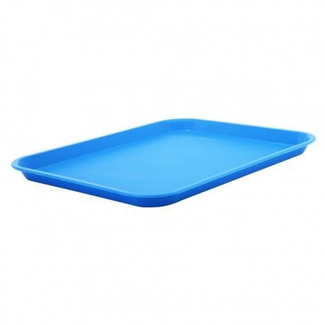 Bandeja Rectangular Azul Plástica Rinox
