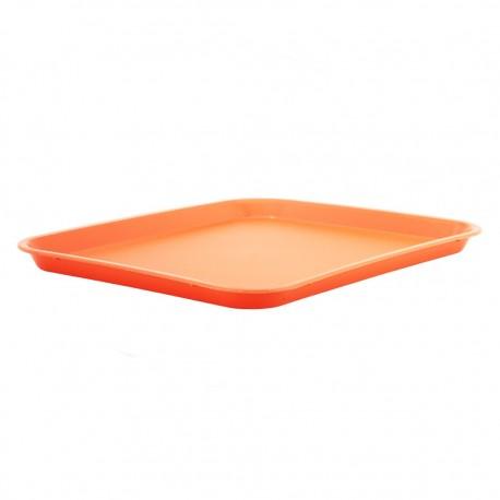Bandeja Rectangular Naranja Plástica Rinox