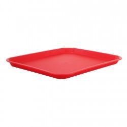 Bandeja Rectangular Roja Plástica Rinox