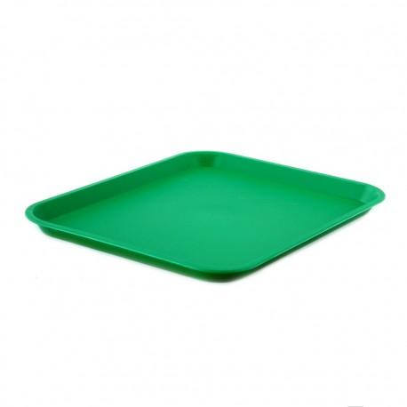 Bandeja Rectangular Verde Plástica Rinox