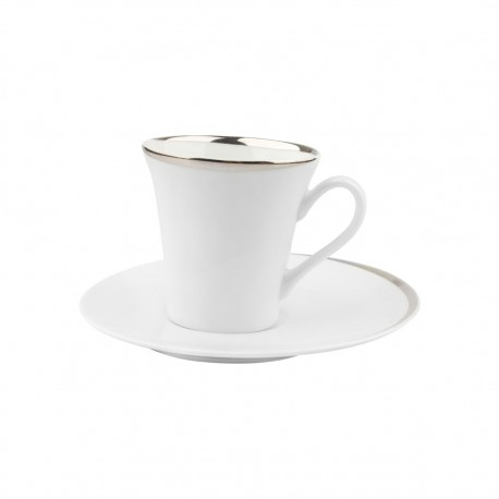 Taza Café Con Platillo Touch Platino Limoges