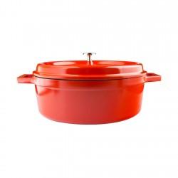 Cacerola Ovalada 31x25 Roja...