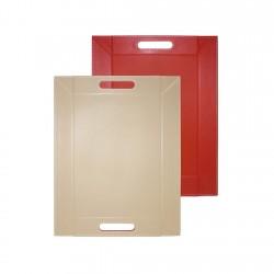 Bandeja 55x41 Rojo/Beige Freeform