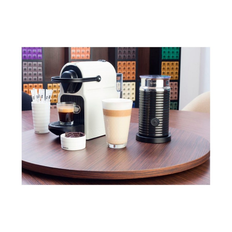 Nespresso Inissia Coffee Machine Black Aeroccino Plus Milk Frother ...