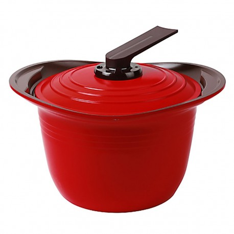 Olla con Asas de Silicona 8lt Rojo 26cm Premium Roichen