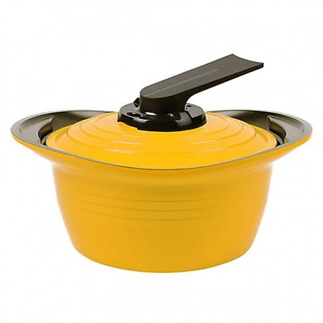 Olla con Asas de Silicona 2,6lt Amarillo 20cm Premium Roichen