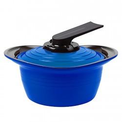 Olla con Asas de Silicona 1,8lt Azul 18cm Premium Roichen
