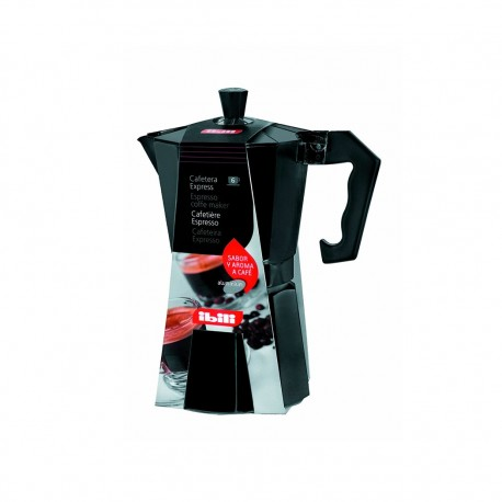 Cafetera Aluminio 1,2lt 12tz Bahia Negra Ibili