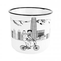 Mug 420cc Santiago en Bicicleta Barrio Sanhattan