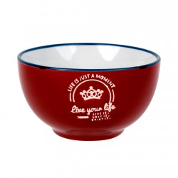 Bowl Rojo Enamel Look Decorado 13,5cm Lugano