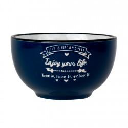 Bowl Azul Enamel Look Decorado 13,5cm Lugano