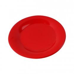 Plato Bajo Melamina Rojo 23,5cm Efay