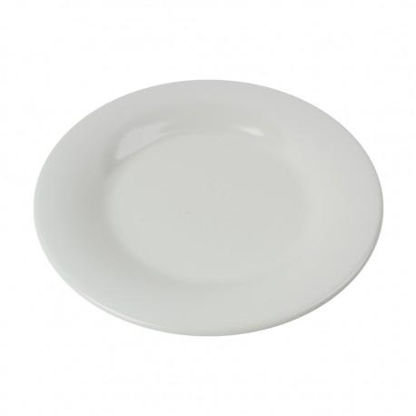 Plato Bajo Melamina Blanco 23,5cm Efay