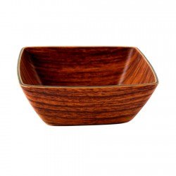 Mini Bowl Cuadrado Caoba 10x10cm Evelin