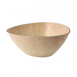 Bowl Triangular Natural 19,5x10cm Evelin