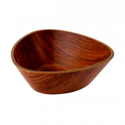 Bowl Triangular Caoba 24x10,5cm Evelin