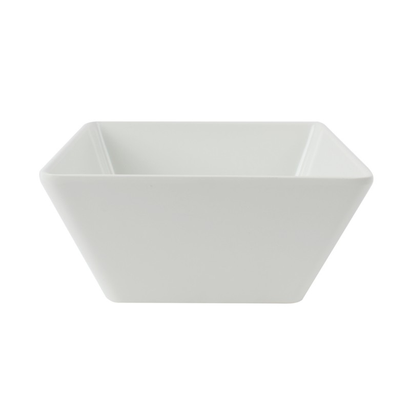 Bowl Cuadrado Melamina Blanco 18cm Efay