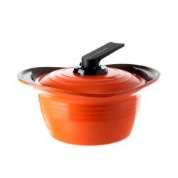 Olla con Asas de Silicona 4,6lt Naranjo 24cm Premium Roichen