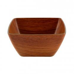 Bowl Cuadrado Caoba 12,5x12,5cm Evelin