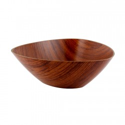 Bowl Triangular Caoba 29x11cm Evelin