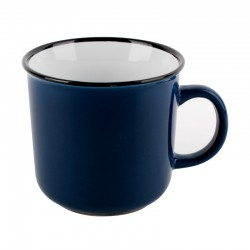 Mug 420cc Color Azul Enamel Look Lugano