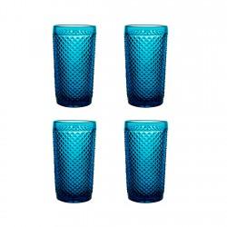 Set 4 Vasos Altos Diamante...