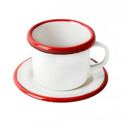 Tazón Café con Platillo Acero Esmaltado Bordeaux Ibili