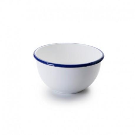 Bowl Acero Esmaltado Blanco y Azul 12cm Ibili