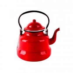 Tetera 1lt Acero Esmaltado Rojo Ibili