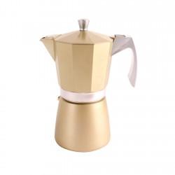 Cafetera Express Aluminio 0,9lt 9tz Dorada Evva Ibili
