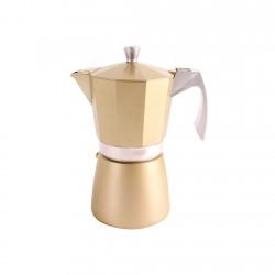 Cafetera Express Aluminio 0,6lt 6tz Dorada Evva Ibili