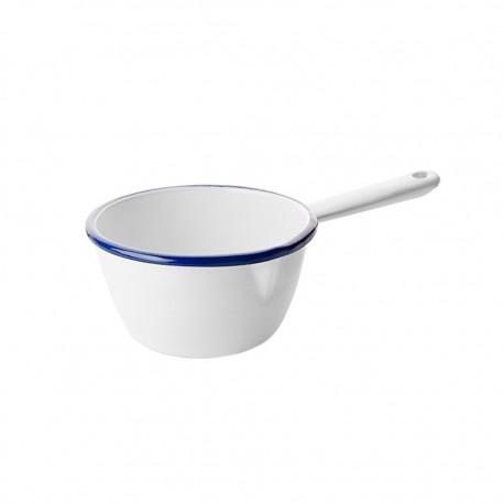 Cacerola con Mango Acero Esmaltado Blanco/Azul 10cm Ibili