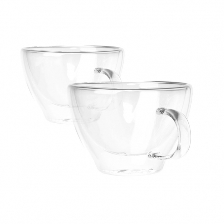Set de 2 Taza Duos 38,5cl Thermic Glass Luigi Bormioli