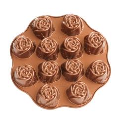 Molde 12 Muffins Rosas...