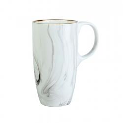 Mug 610ml White Marble Contour
