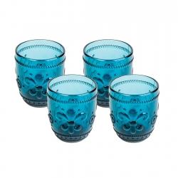 Set 4 Vasos Bajo 260ml Flor...