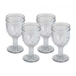 Set 4 Copas Vino 250ml Flor...