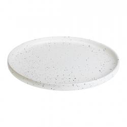 Plato Bajo 26cm White Dots...