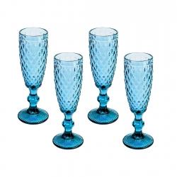 Set 4 Copas Flauta Diamante...