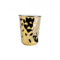 Vaso 8cm Gold Hammered Look...