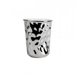 Vaso 8cm Silver Hammered...