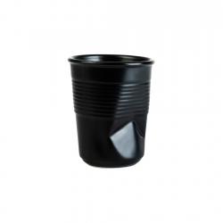 Vaso 8cm Black Mate Pressed...