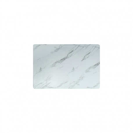 Tabla Rectangular 26x18cm White Marble Contour