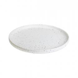 Plato Bajo 20cm White Dots...