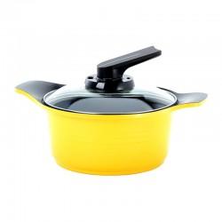 Cacerola Con Asas de Silicona 20cm 2.5lts Amarillo Roichen