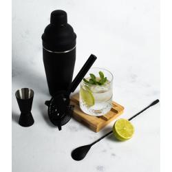 Colador Bar 19,7x10,3cm Negro Puntos Lugano