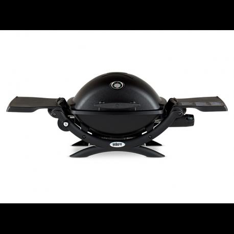 Parrilla Portátil a Gas Q1200 Aluminio Esmaltado Negra con Carro Portátil Weber