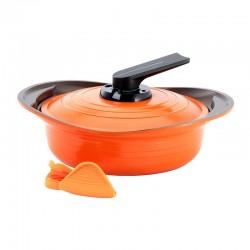 Arrocera con Asas Silicona 24cm Naranja Roichen