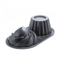 Molde Doble Cup cake 6 Tazas Aluminio Fundido Nordic Ware
